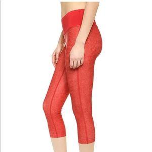 Snakeskin print cropped leggings like new!